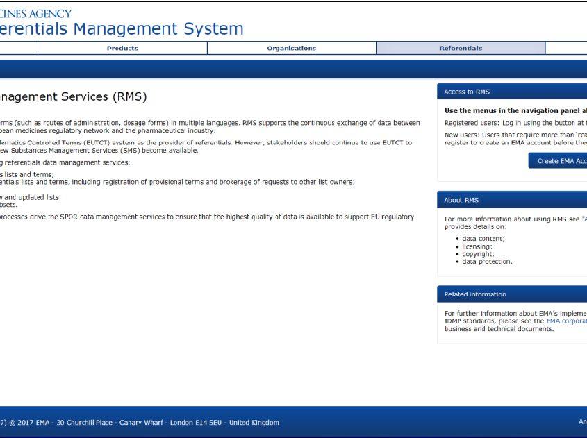 idmp spor management system ema